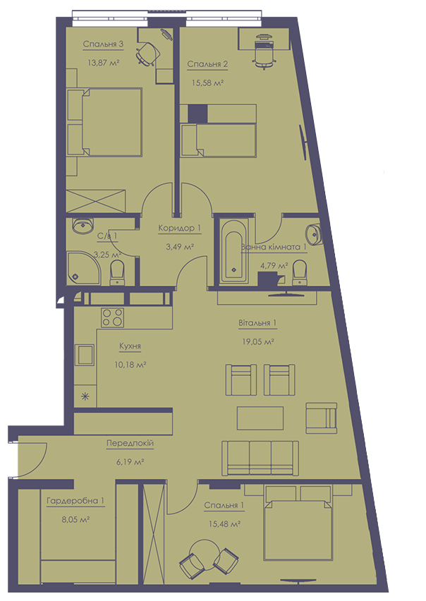 Apartment layout KV_56_4g_1_1_11-1