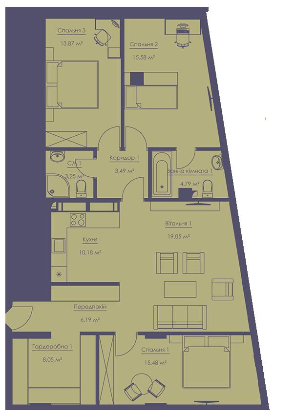 Apartment layout KV_56_4g_1_1_11-1