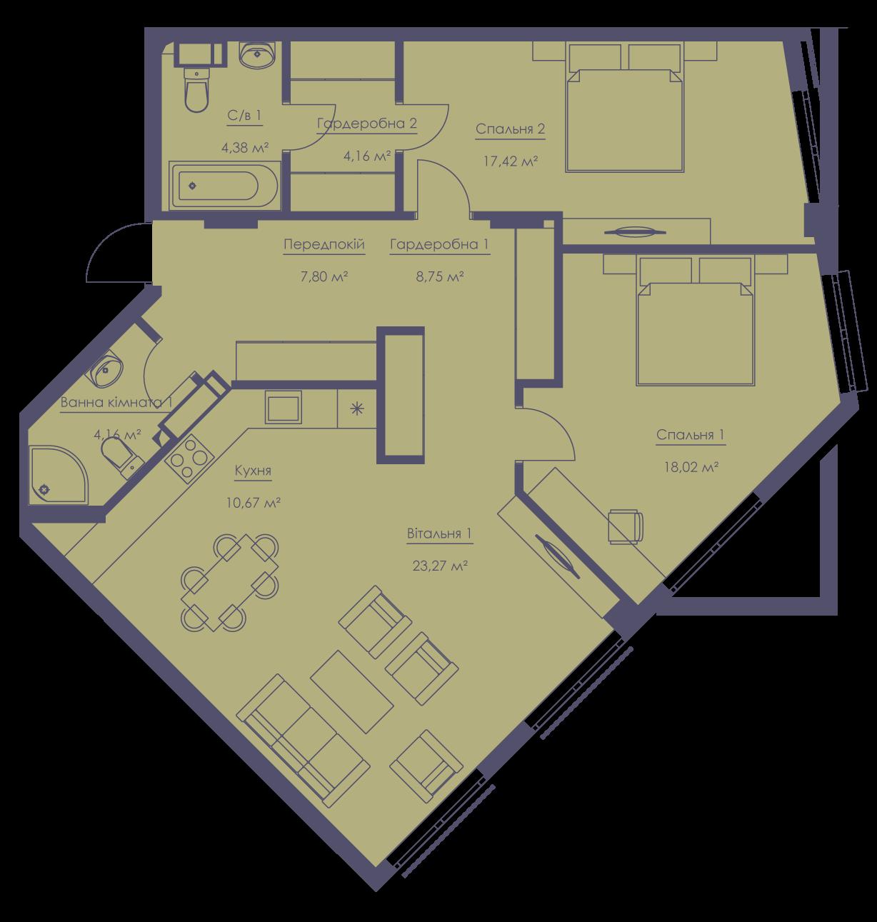 Apartment layout KV_101_3a_1_1_12-1