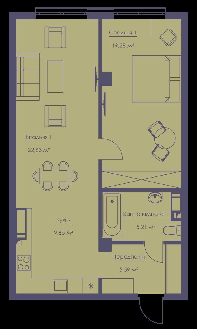 Apartment layout KV_153_3.2zh_1_1_9-1