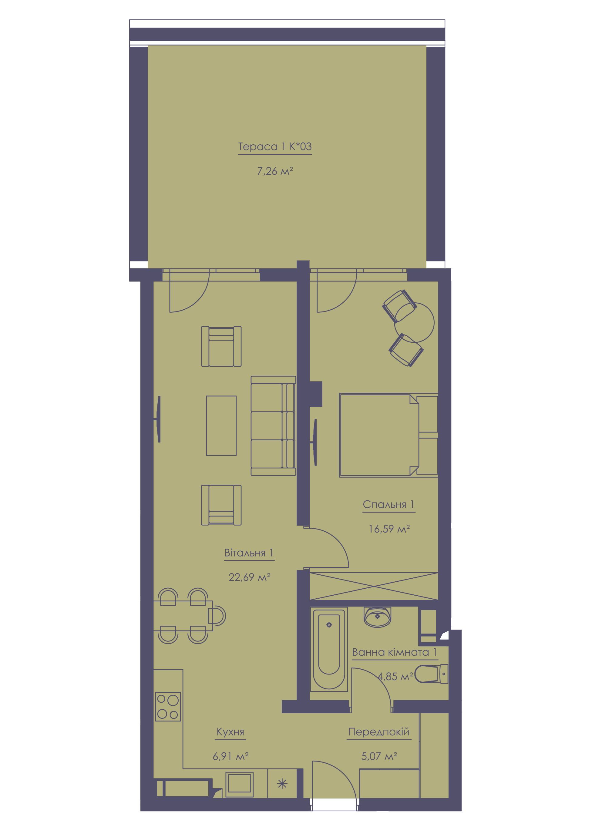 Apartment layout KV_10_1.2k_1_1_10-1