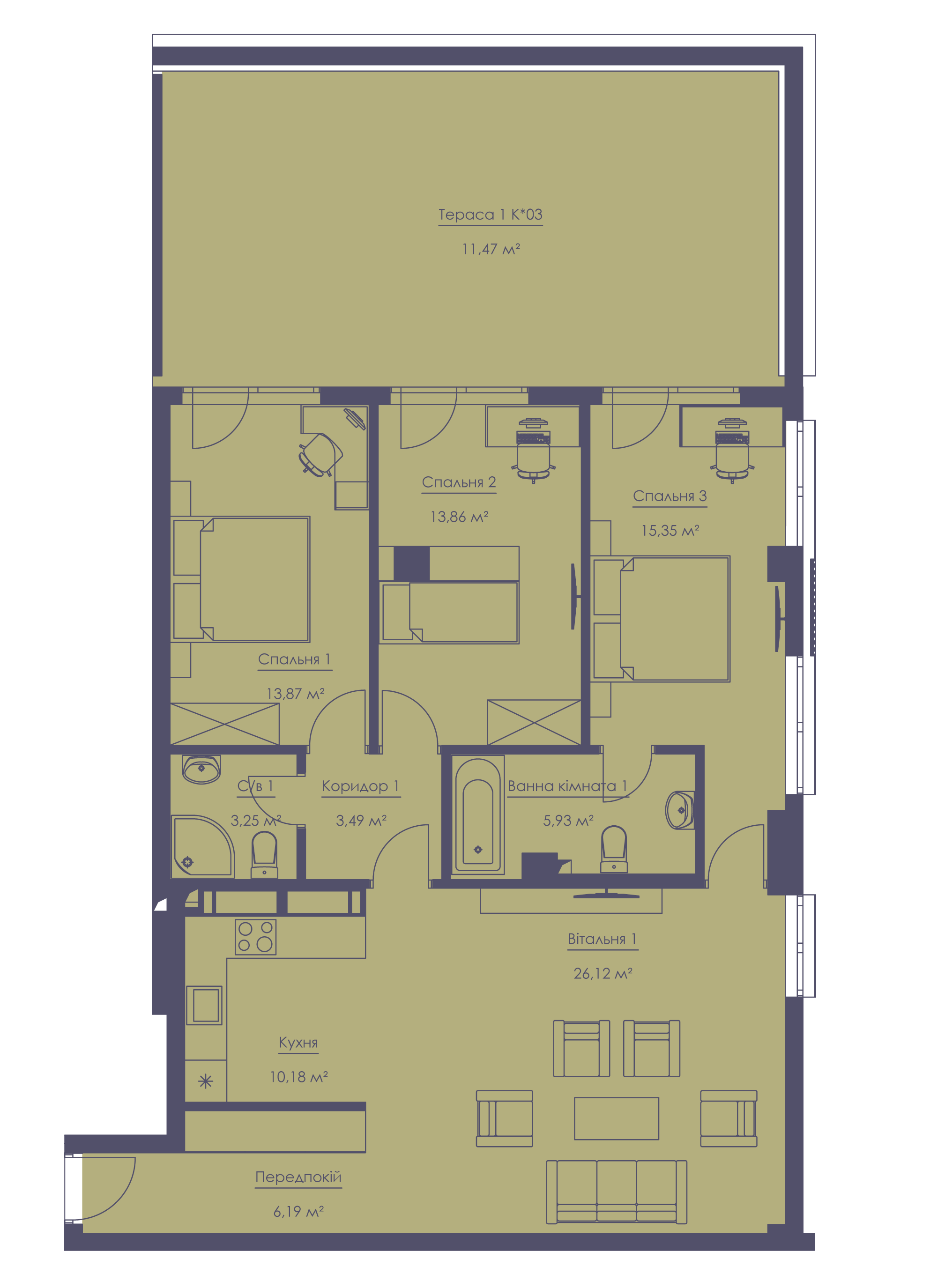 Apartment layout KV_11_1.4v_1_1_11-1