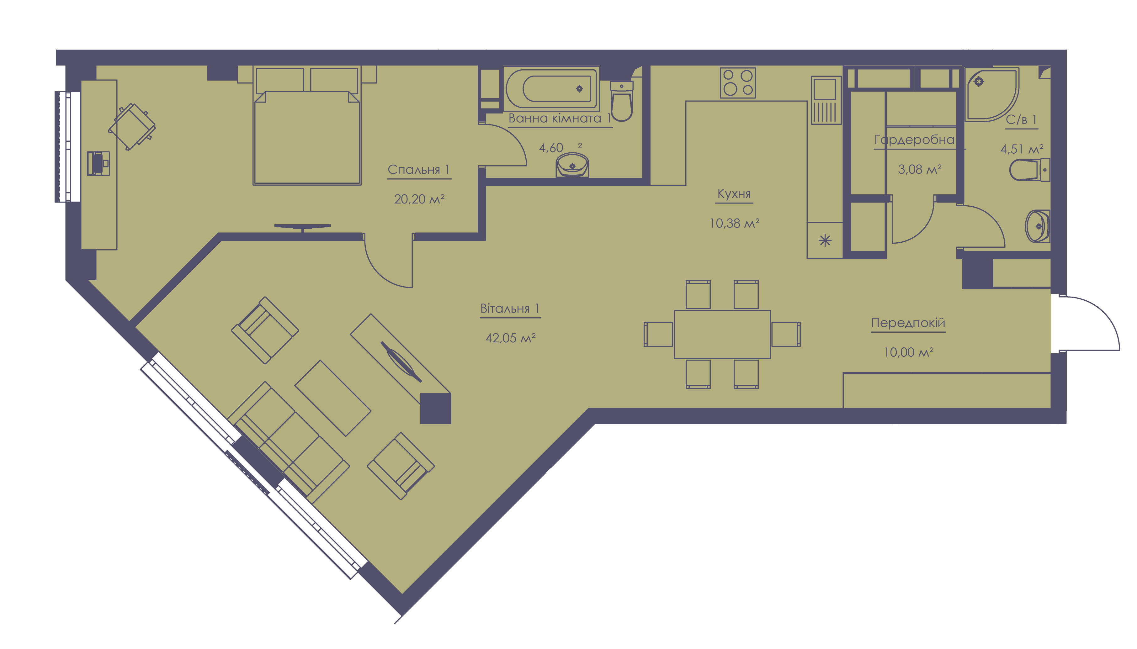 Apartment layout KV_5_1.2v_1_1_5-1