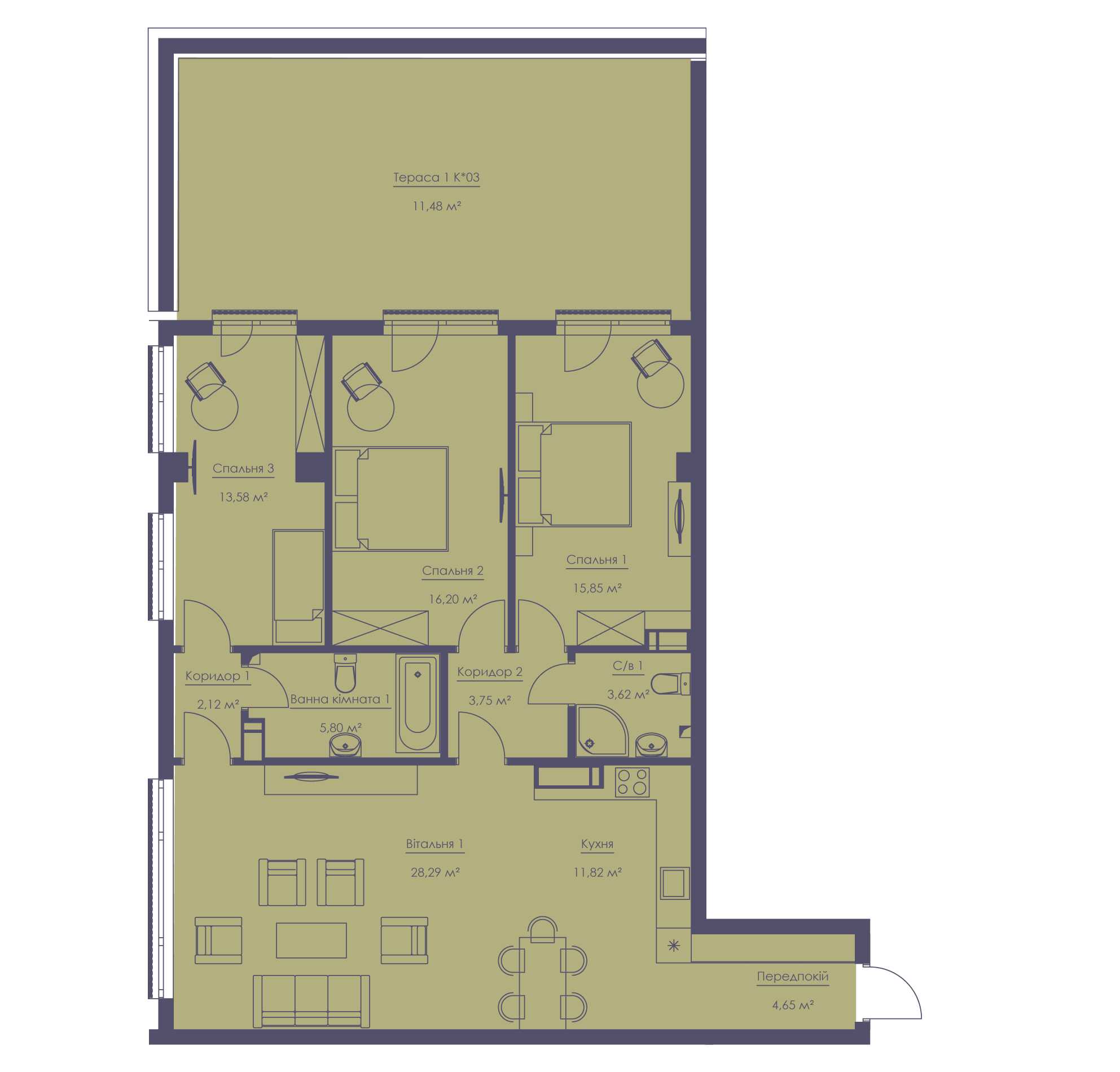 Apartment layout KV_6_1.4b_1_1_6-1