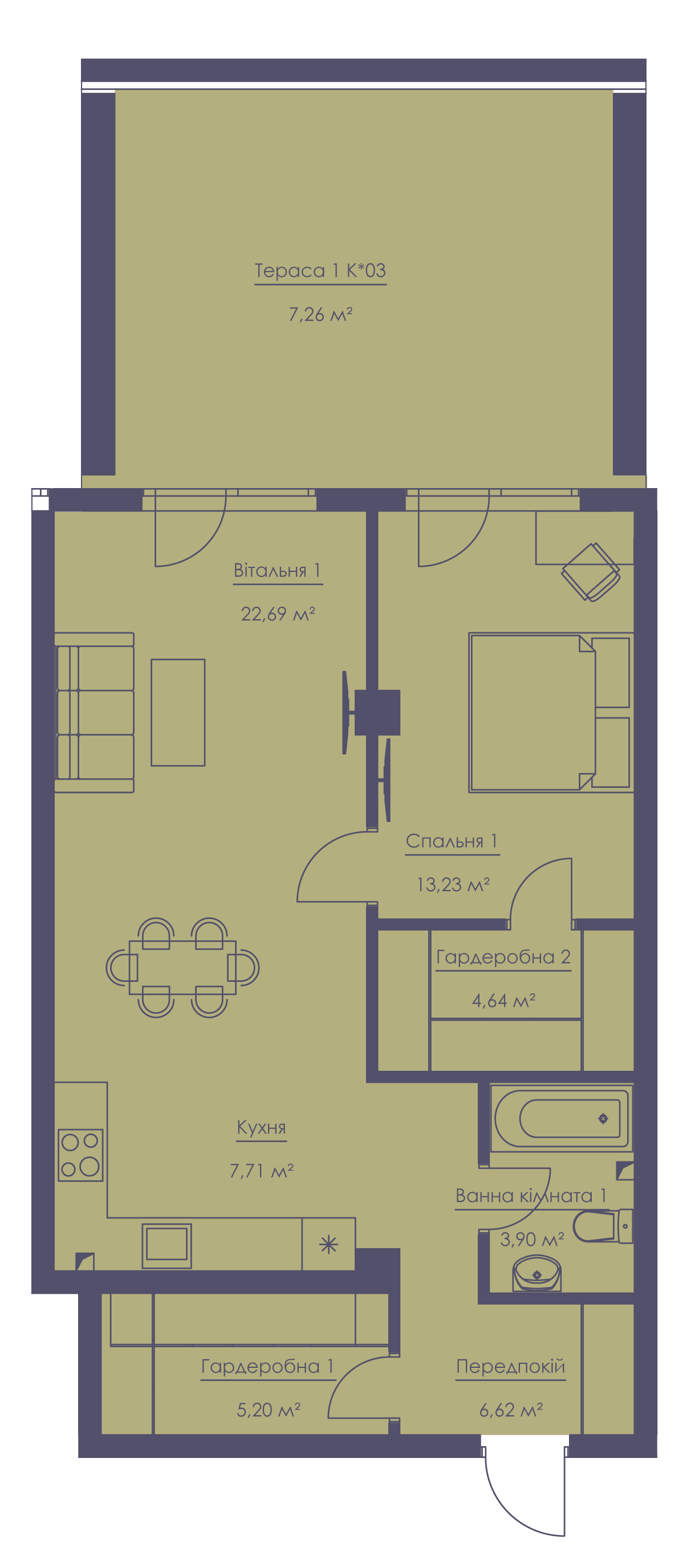 Apartment layout KV_9_1.2zh_1_1_9-1