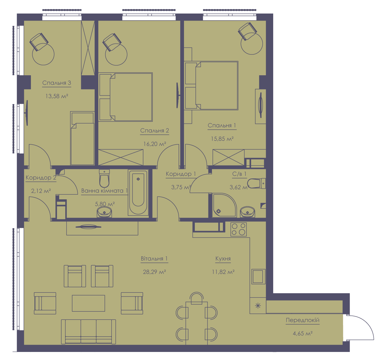 Apartment layout KV_18_2.4b_1_1_6-1