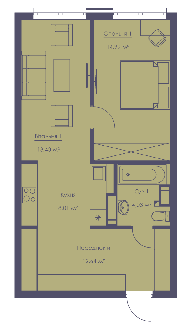 Apartment layout KV_19_2.2g_1_1_7-1