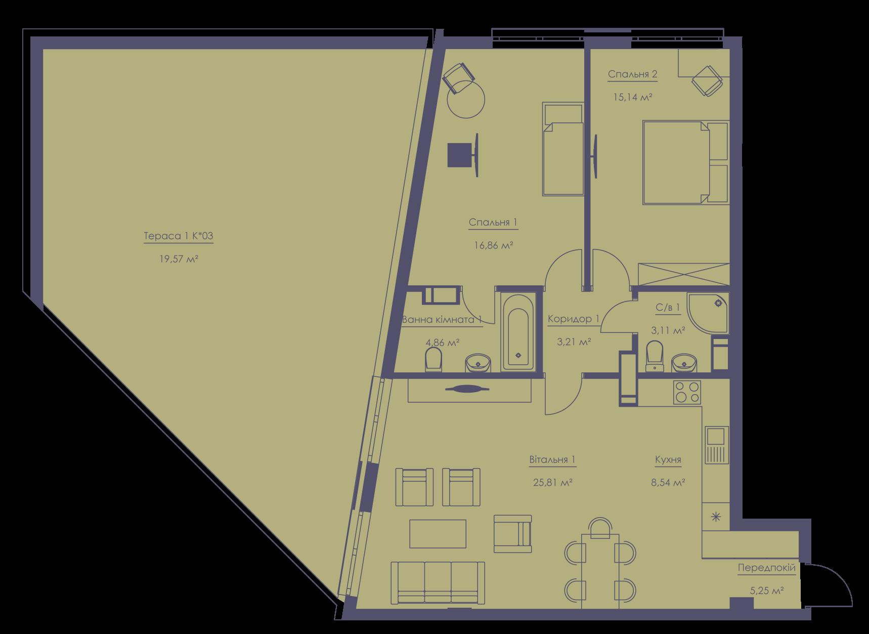 Apartment layout KV_30_1.2n_1_1_7-1
