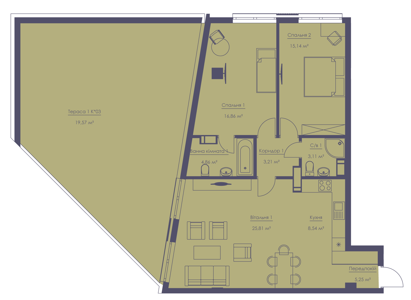 Apartment layout KV_30_1.2n_1_1_7-1